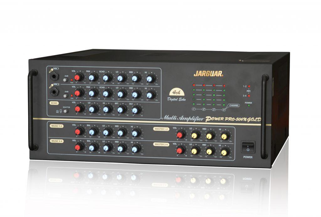 Jarguar Pro-506N Gold là Amply karaoke có âm thanh cực kỳ mạnh mẽ nhất hiện nay