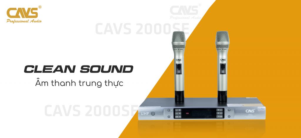 Micro Không Dây CAVS 2000SE II âm thanh trung thực