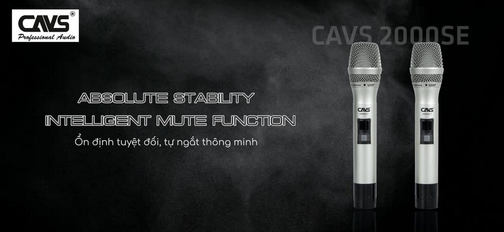 Micro Không Dây CAVS 2000SE II tự ngắt thông minh