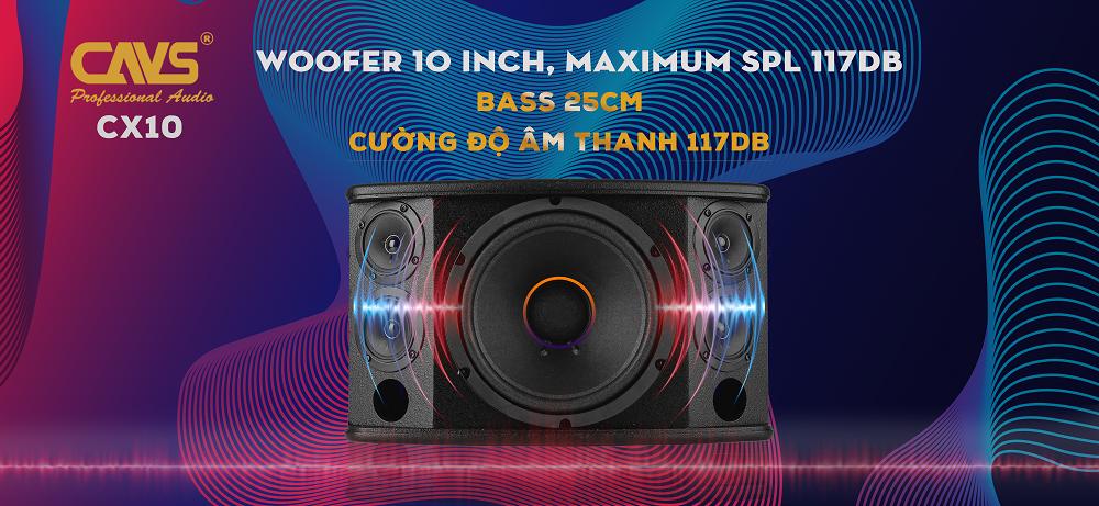 Loa Karaoke CAVS CX10 Bass 25 uy lực