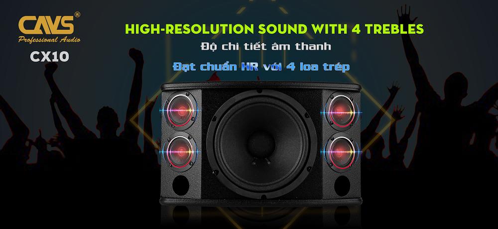 Loa Karaoke CAVS CX10 cho chi tiết âm thanh cực cao