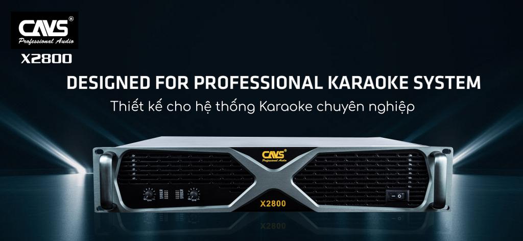 Cục đẩy công suất CAVS X2800 Karaoke chuyên nghiệp