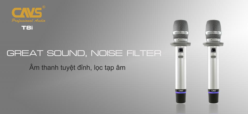 Micro Không Dây CAVS T8i - Lọc tạp âm cho âm thanh cực sạch