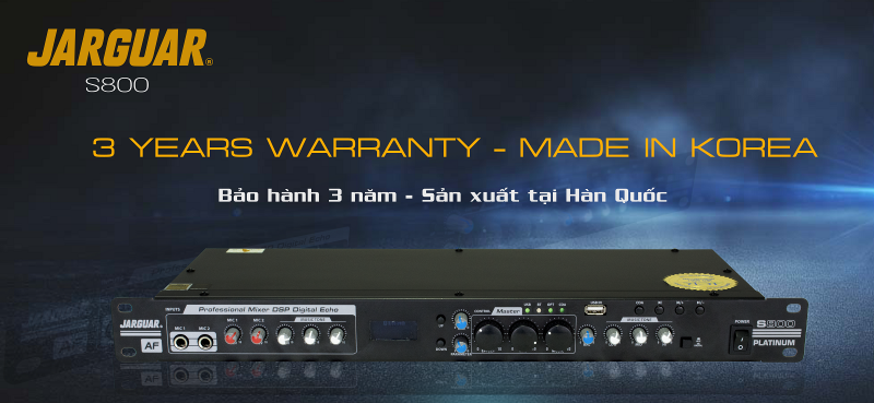 Vang cơ DSP Jarguar S800 Platinum - bảo hành 3 năm