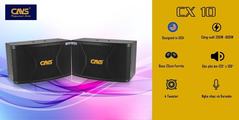 Loa Karaoke CAVS CX10 Bass 25